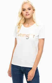 Хлопковая футболка с логотипом бренда Wrangler