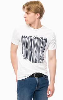 Хлопковая футболка с принтом Marc Opolo