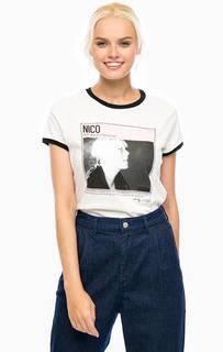 Хлопковая футболка с контрастными вставками Pepe Jeans