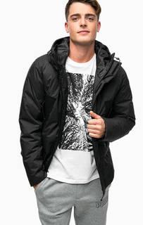 Черный пуховик с капюшоном Puma