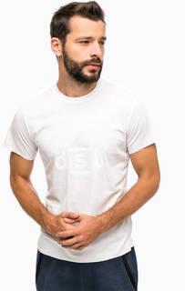 Белая футболка с короткими рукавами Diesel