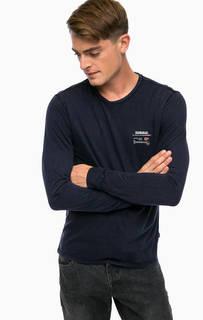 Синяя футболка с длинными рукавами Napapijri