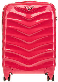 Пластиковый чемодан цвета фуксии Verage