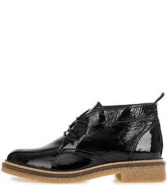 Черные ботинки из лаковой кожи Hilfiger Denim