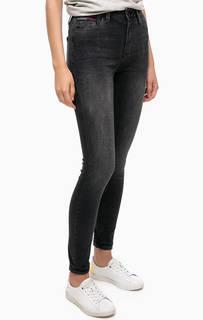 Серые джинсы скинни с высокой посадкой Hilfiger Denim