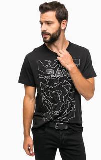 Черная футболка с принтом G Star RAW