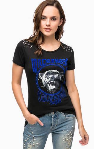 Хлопковая футболка с декоративной отделкой