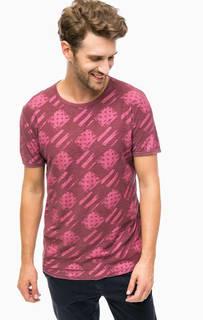 Фиолетовая хлопковая футболка Tom Tailor Denim