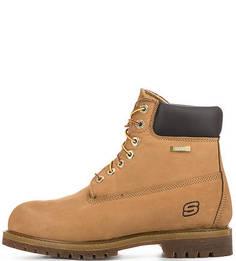 Высокие ботинки из нубука Skechers