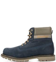 Синие ботинки из нубука Caterpillar