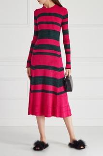 Платье из шерсти и шелка Proenza Schouler