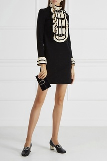 Платье с оборками Gucci