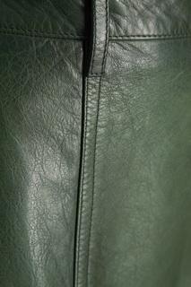 Кожаная юбка Prada