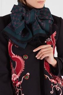 Шарф из шерсти и шелка Gucci