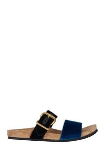 Бархатные сандалии Prada