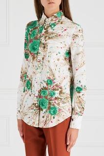 Хлопковая блузка Prada