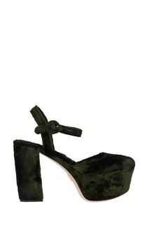 Бархатные туфли Prada