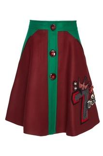 Шерстяная юбка Miu Miu