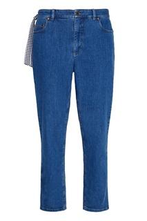 Однотонные джинсы Miu Miu