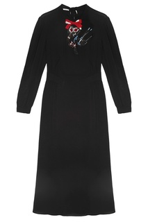 Платье с вышивкой Miu Miu