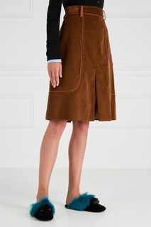 Вельветовая юбка Prada