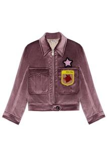 Бархатная куртка Miu Miu