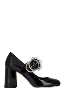 Кожаные туфли Miu Miu