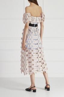 Комбинированное платье Self Portrait