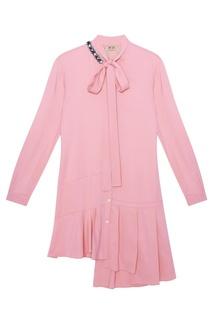 Однотонное платье-рубашка No.21