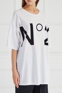 Хлопковая футболка No.21