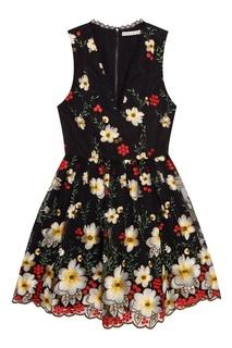 Платье с вышивкой Alice + Olivia