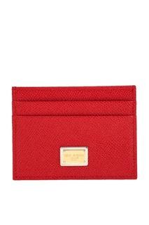 Кожаный футляр для карт Dolce & Gabbana