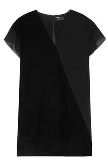 Комбинированное платье Lanvin