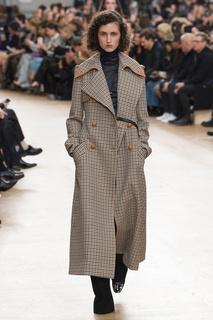 Пальто в клетку Nina Ricci