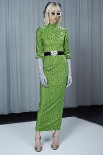 Платье с принтом Alessandra Rich