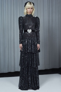 Платье с пайетками Alessandra Rich
