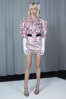 Платье в полоску Alessandra Rich