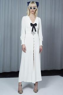 Платье с бантом Alessandra Rich