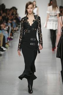 Комбинированное платье David Koma