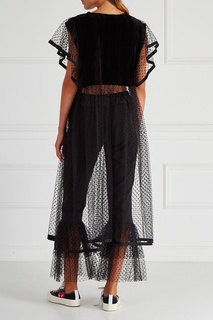 Платье из бархата и сетки Ivka