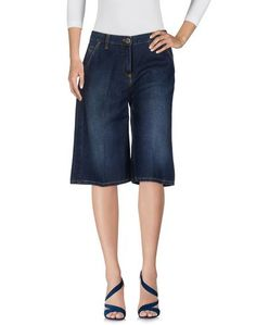 Джинсовые брюки-капри Elisabetta Franchi Jeans