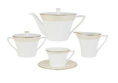 """Чайный сервиз из 17 предметов на 6 персон """"Бриз Голд"""" Narumi"""
