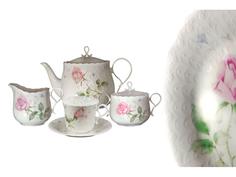 """Чайный сервиз 17 предметов на 6 пресон """"Апрельская роза"""" Narumi"""