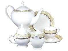 """Чайный сервиз 21 предмет на 6 персон """"Романтика"""" Emerald"""