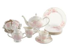 """Чайный сервиз  40 предметов на 12 персон """"Розовые цветы"""" Emerald"""