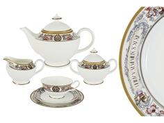 """Чайный сервиз 21 предмет на 6 персон """"Мельпомена"""" Emerald"""