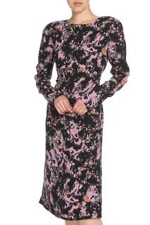Платье с круглым вырезом горловины Bottega Veneta