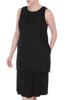 Платье свободного силуэта с ажурным верхом VDP