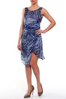 Шелковое платье с ассиметричным подолом Caractere