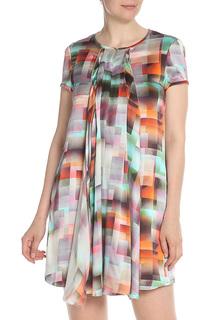 Цветное платье с круглым вырезом Emporio Armani